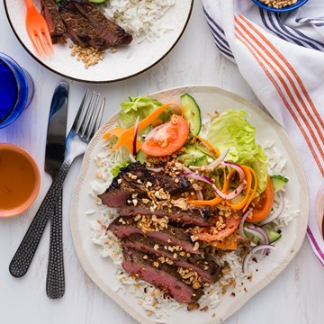 Thai Beef Salad with Coconut Rice
