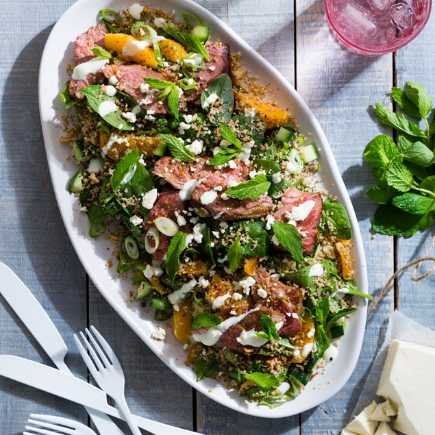 Sumac Lamb with Orange and Mint Couscous
