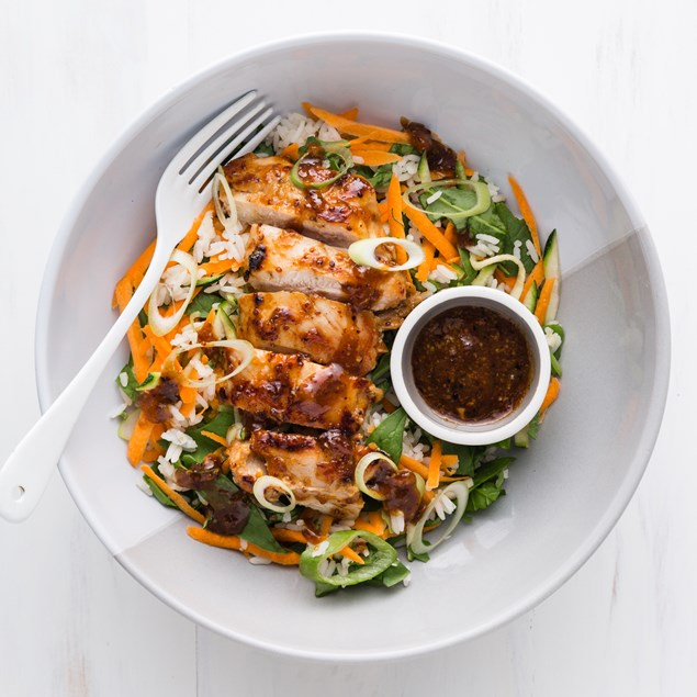 Apricot Chicken with Rice Salad