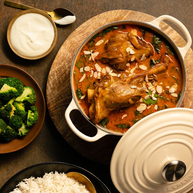 Indian Lamb Shank Curry with Basmati Rice