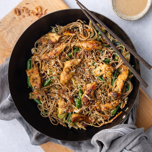 Chicken with Sesame Soba Noodles