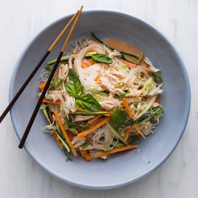 Coconut Poached Chicken Vermicelli Salad