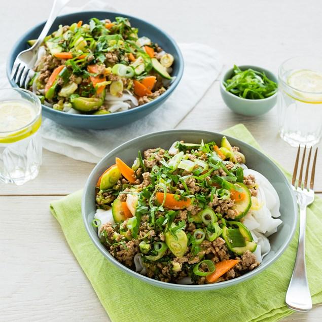 Thai Turkey and Vegetable Stir-Fry with Coriander