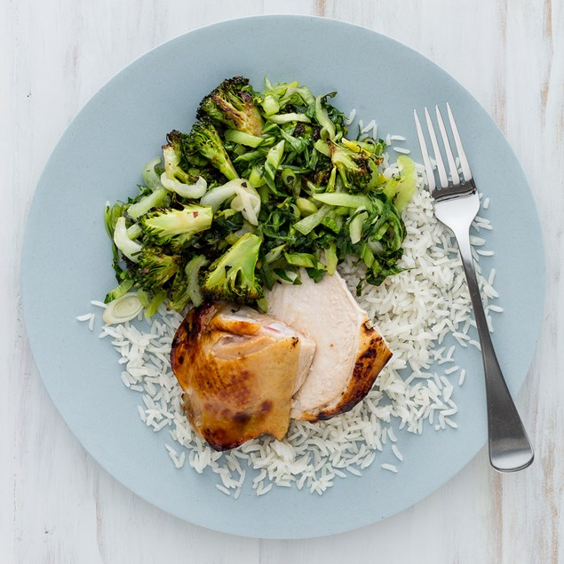 Honey Roasted Chicken with Coconut Rice