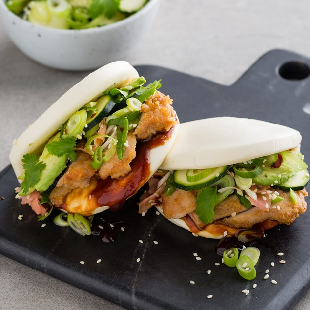 My food bag nadia lim recipes chicken steam buns with chicken steam buns with courgette and avocado salad forumfinder Image collections
