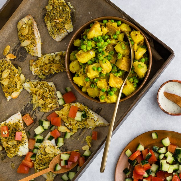 Coconut Turmeric Fish with Cumin Potatoes