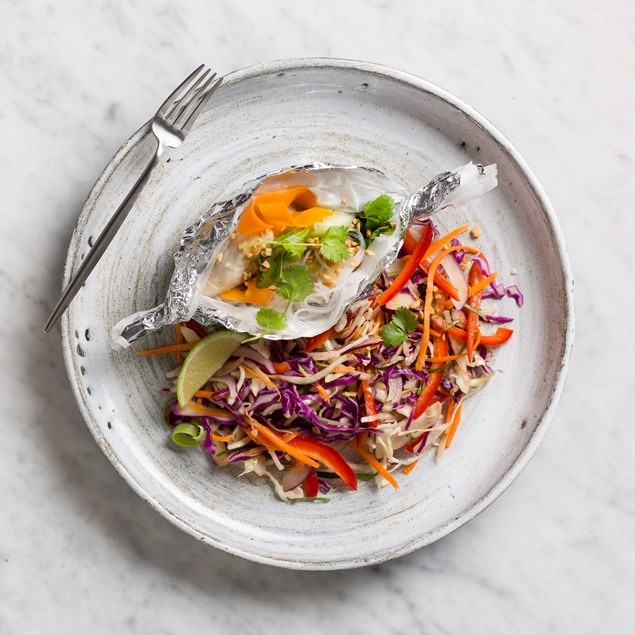 Vietnamese Fish Parcel with Vermicelli Salad