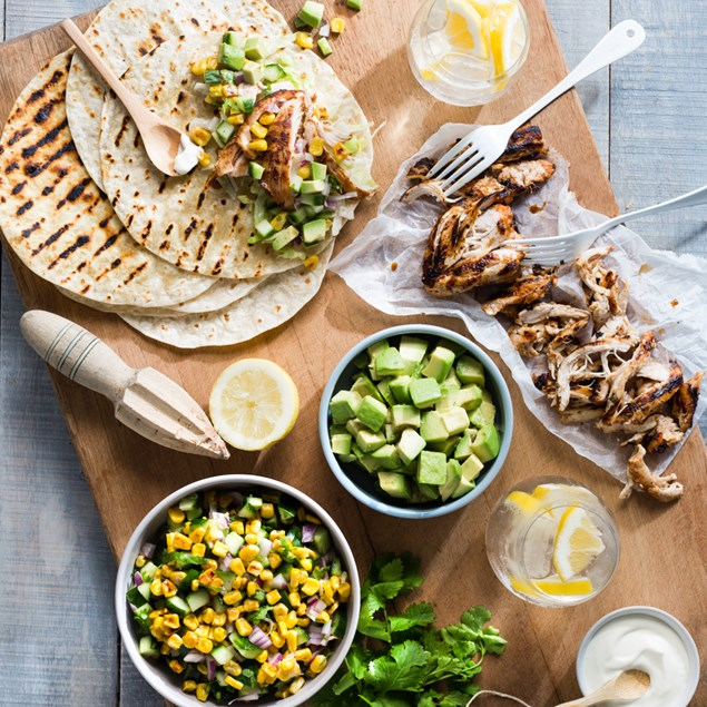 Chicken Tacos with Grilled Corn Salsa