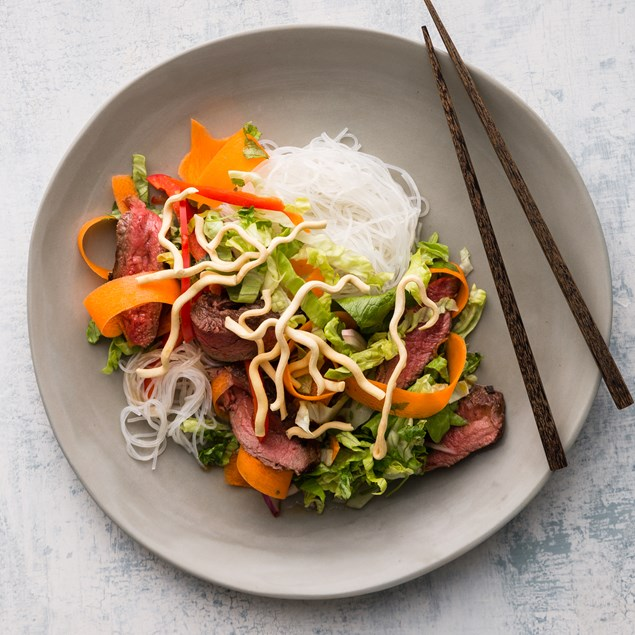 Thai Beef Salad with Crispy Noodles