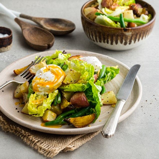 Spring Caesar Salad with Red Rascals & Golden Beets