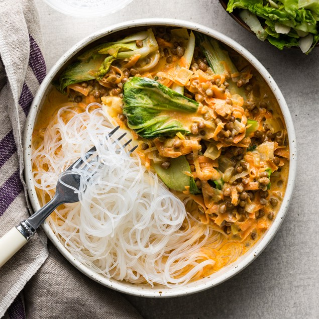 Thai Red Lentil & Coconut Curry with Vermicelli Noodles