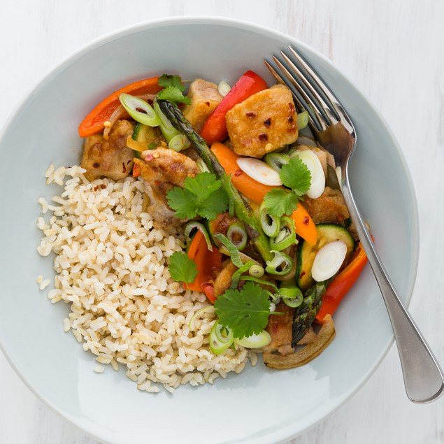 Chinese Lemon Chicken with Brown Rice