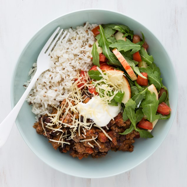 Mexican Beef and Bean Bowls with Fragrant Rice
