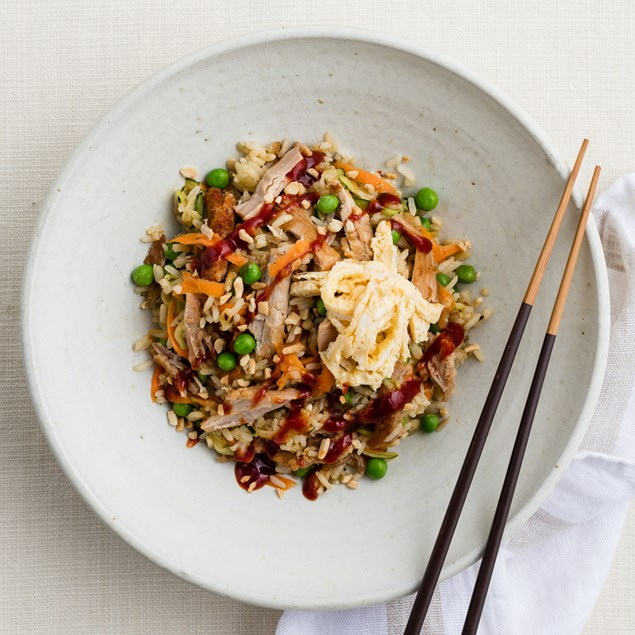 Pork Fried Rice with Asian Ketchup