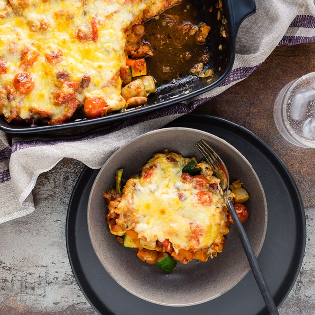 Italian-Style Roast Veggie and Tomato Bake