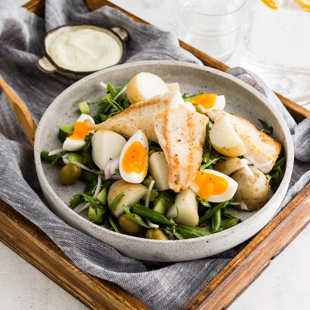 Fish Niçoise with Green Beans and Olives