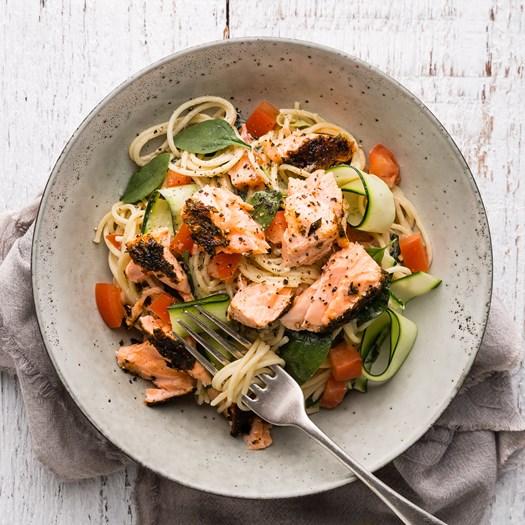 Salmon, Lemon & Herb Spaghetti