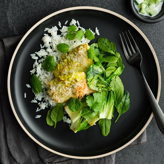 Lemongrass and Coconut Curry Roasted Fish
