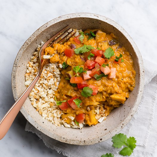 Kumara and Lemongrass Coconut Dhal