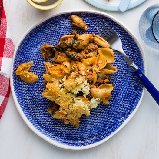 Lamb Pasta Bake with Cheesy Crispy Breadcrumbs